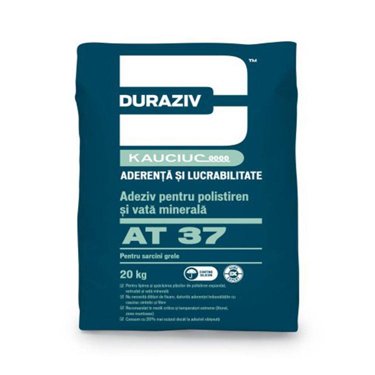 Adeziv polistiren si vata minerala DURAZIV AT 37 25kg