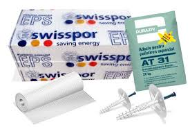 Pachet termoizolatie Expandat EPS 80 Premium Plus 10 cm + Tencuiala decorativa cu silicn