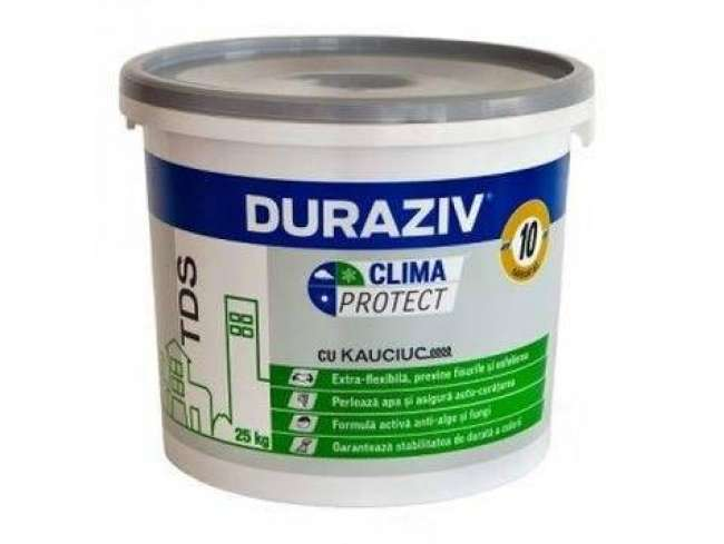 TENCUIALA DECORATIVA CLIMA PROTECT CU KAUCIUC 25KG (SCOARTA DE COPAC) - 60 CULORI [Duraziv]